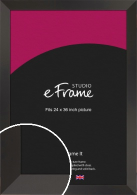 Ultra Simple Wide Black Picture Frame, 24x36
