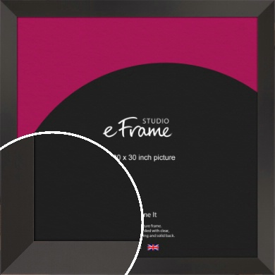 Ultra Simple Wide Black Picture Frame, 30x30