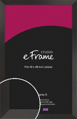 Ultra Simple Wide Black Picture Frame, 30x48