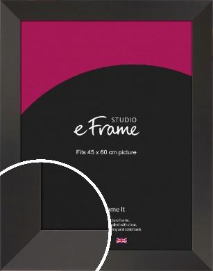 Ultra Simple Wide Black Picture Frame, 45x60cm (VRMP-732-45x60cm)