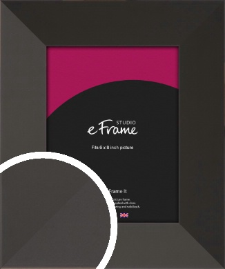 Ultra Simple Wide Black Picture Frame, 6x8