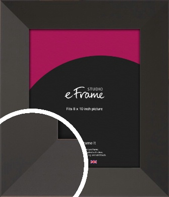 Ultra Simple Wide Black Picture Frame, 8x10