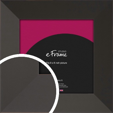 Ultra Simple Wide Black Picture Frame, 8x8