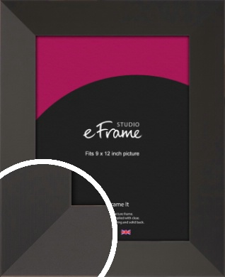 Ultra Simple Wide Black Picture Frame, 9x12