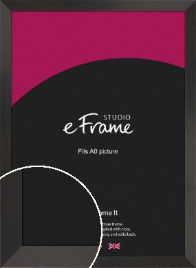 Ultra Simple Wide Black Picture Frame, A0 (841x1189mm) (VRMP-732-A0)