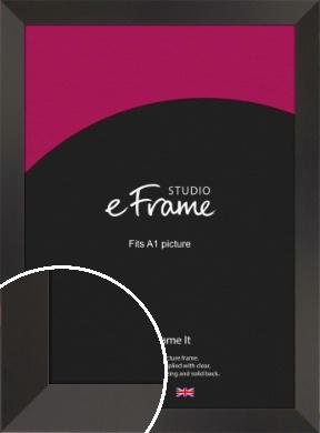 Ultra Simple Wide Black Picture Frame, A1 (594x841mm) (VRMP-732-A1)