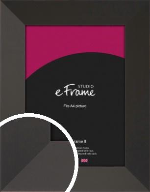 Ultra Simple Wide Black Picture Frame, A4 (210x297mm) (VRMP-732-A4)