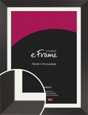 Ultra Simple Wide Black Picture Frame & Mount, 50x70cm (VRMP-732-M-50x70cm)