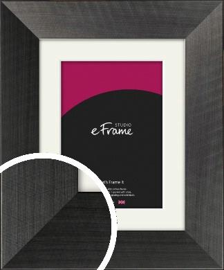 Stylish & Timeless Brushed Black Picture Frame & Mount (VRMP-730-M)
