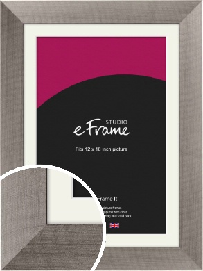 High Class Silver Picture Frame & Mount, 12x18
