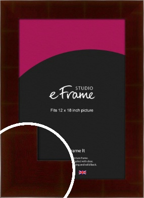 Wide Smooth Cherry Brown Picture Frame, 12x18