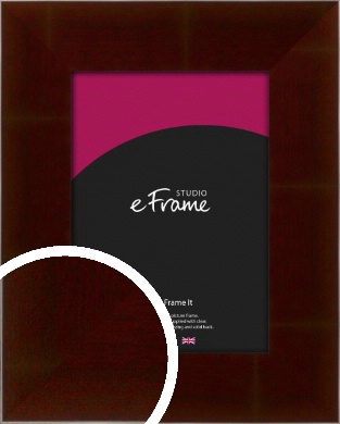 Wide Smooth Cherry Brown Picture Frame (VRMP-387)