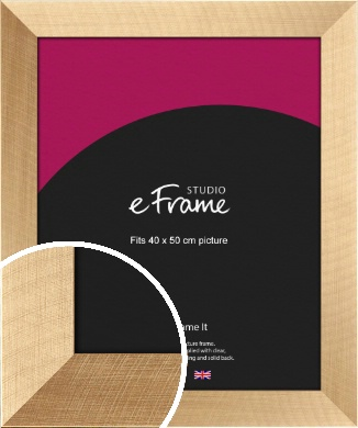 Rich & Bold Brushed Gold Picture Frame, 40x50cm (VRMP-554-40x50cm)