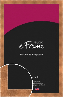 Etched Black Edge Mineral Bronze / Copper Picture Frame, 30x48