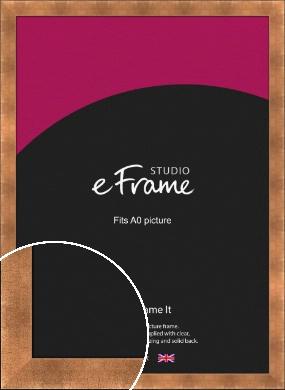Etched Black Edge Mineral Bronze / Copper Picture Frame, A0 (841x1189mm) (VRMP-141-A0)
