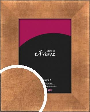 Etched Black Edge Mineral Bronze / Copper Picture Frame (VRMP-141)