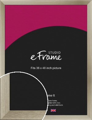 Nickel Silver Picture Frame, 36x48