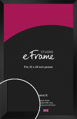Modern Gallery Style Black Picture Frame, 30x48