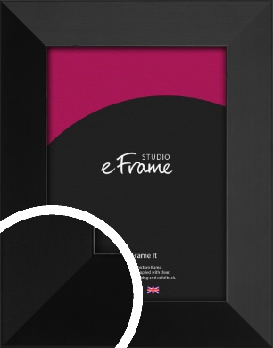 Modern Gallery Style Black Picture Frame (VRMP-735)