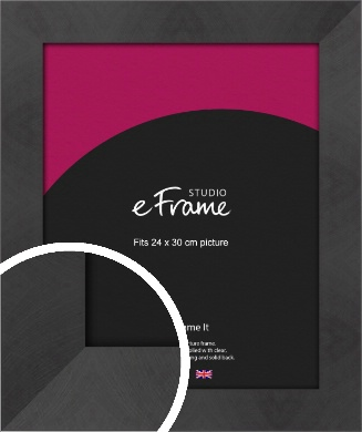 Squared Gallery Etched Black Picture Frame, 24x30cm (VRMP-733-24x30cm)