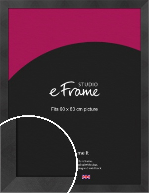 Squared Gallery Etched Black Picture Frame, 60x80cm (VRMP-733-60x80cm)