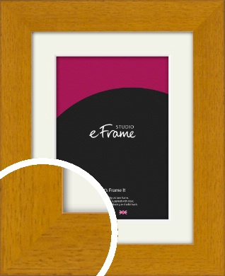 Lightly Grained Honey Brown Picture Frame & Mount (VRMP-1229-M)