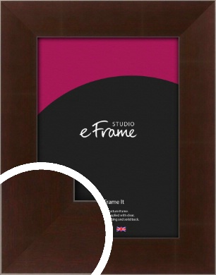Smooth Textured Cherry Brown Picture Frame (VRMP-390)