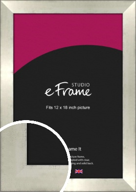 Black Edged Silver Picture Frame, 12x18