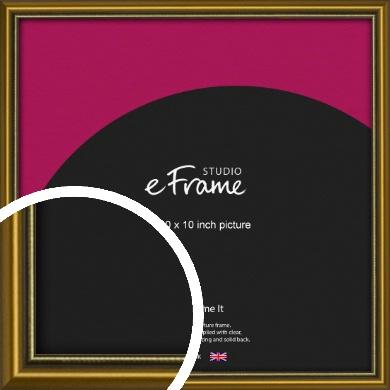 Vintage Gold Picture Frame, 10x10