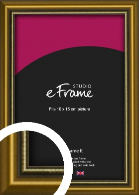 Vintage Gold Picture Frame, 10x15cm (4x6