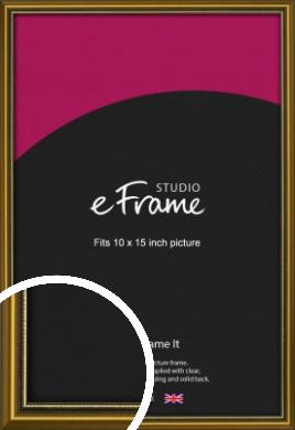 Vintage Gold Picture Frame, 10x15