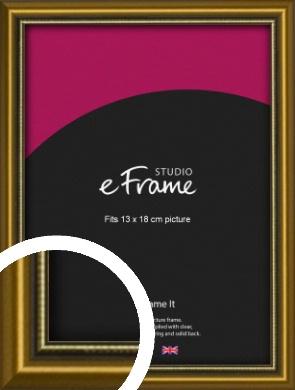 Vintage Gold Picture Frame, 13x18cm (5x7