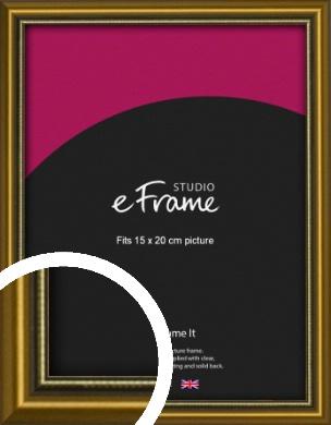 Vintage Gold Picture Frame, 15x20cm (6x8