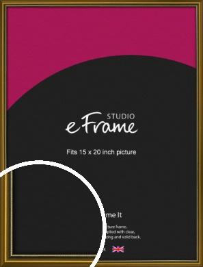 Vintage Gold Picture Frame, 15x20