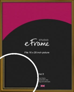 Vintage Gold Picture Frame, 16x20