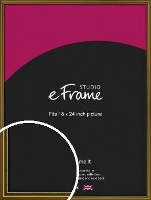 Vintage Gold Picture Frame, 18x24