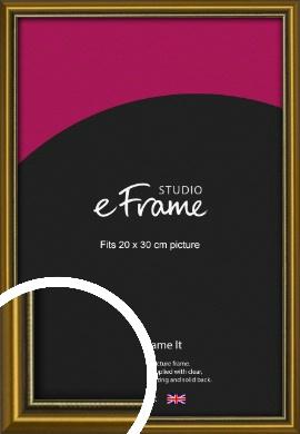 Vintage Gold Picture Frame, 20x30cm (8x12