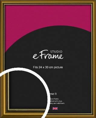 Vintage Gold Picture Frame, 24x30cm (VRMP-1233-24x30cm)