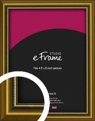 Vintage Gold Picture Frame, 4.5x6