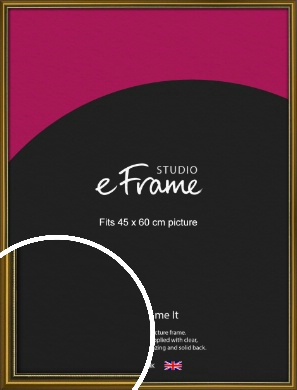 Vintage Gold Picture Frame, 45x60cm (VRMP-1233-45x60cm)