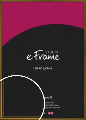 Vintage Gold Picture Frame, A1 (594x841mm) (VRMP-1233-A1)