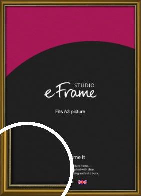 Vintage Gold Picture Frame, A3 (297x420mm) (VRMP-1233-A3)