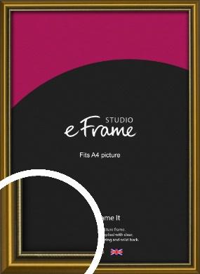 Vintage Gold Picture Frame, A4 (210x297mm) (VRMP-1233-A4)