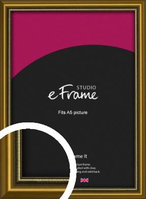 Vintage Gold Picture Frame, A5 (148x210mm) (VRMP-1233-A5)