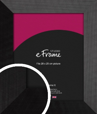 Simple Flat Brushed Black Picture Frame, 20x25cm (8x10