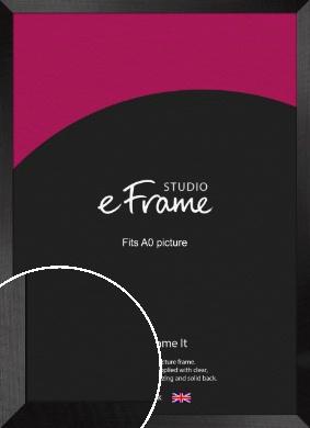 Simple Flat Brushed Black Picture Frame, A0 (841x1189mm) (VRMP-751-A0)