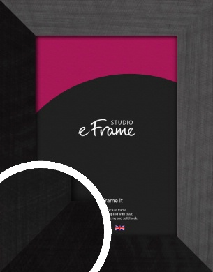 Simple Flat Brushed Black Picture Frame (VRMP-751)