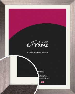 Subtle Etched Silver Picture Frame & Mount, 45x60cm (VRMP-533-M-45x60cm)