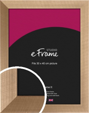 Brushed Champagne Gold Picture Frame, 30x40cm (VRMP-552-30x40cm)