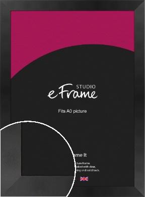 Sleek Brushed Wide Black Picture Frame, A0 (841x1189mm) (VRMP-728-A0)
